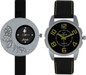 Frida Designer VOLGA Beautiful New Branded Type Watches Men and Women Combo19 VOLGA Band Analog Watch  - For Couple