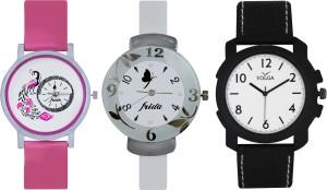 Frida Designer VOLGA Beautiful New Branded Type Watches Men and Women Combo636 VOLGA Band Analog Watch  - For Couple