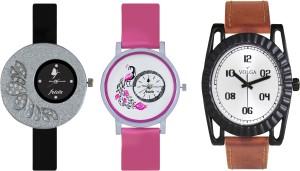 Volga Designer FVOLGA Beautiful New Branded Type Watches Men and Women Combo85 VOLGA Band Analog Watch  - For Couple