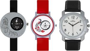 Frida Designer VOLGA Beautiful New Branded Type Watches Men and Women Combo338 VOLGA Band Analog Watch  - For Couple