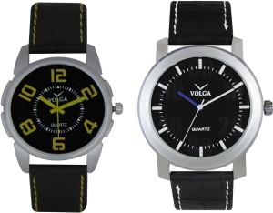 Volga Branded Leather Quality Designer Dial Diwali Special Combo509 Designer Sport Looks WaterProof Mens Watch Analog Watch  - For Men