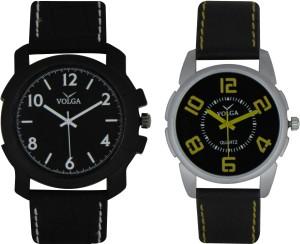 Volga Branded Leather Quality Designer Dial Diwali Special Combo242 Designer Sport Looks WaterProof Mens Watch Analog Watch  - For Men