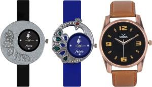Frida Designer VOLGA New Branded Type Watches Men and Women Combo238 VOLGA Frida Couple Analog Watch  - For Couple