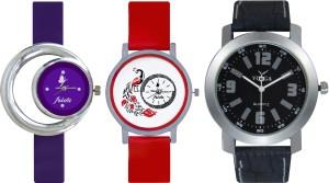 Frida Designer VOLGA Beautiful New Branded Type Watches Men and Women Combo690 VOLGA Band Analog Watch  - For Couple