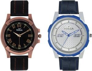 Volga Branded Leather Quality Designer Dial Diwali Special Combo474 Designer Sport Looks WaterProof Mens Watch Analog Watch  - For Men
