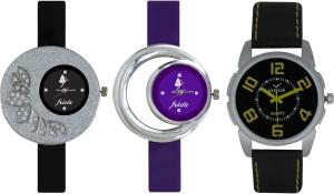 Frida Designer VOLGA Beautiful New Branded Type Watches Men and Women Combo315 VOLGA Band Analog Watch  - For Couple
