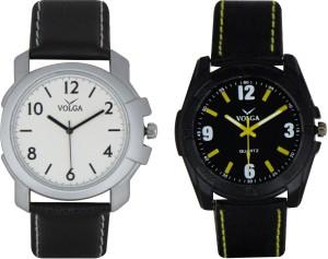 Volga Branded Leather Quality Designer Dial Diwali Special Combo175 Designer Sport Looks WaterProof Mens Watch Analog Watch  - For Men