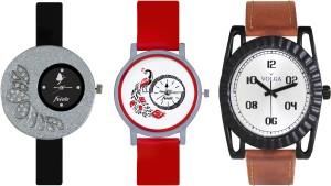 Volga Designer FVOLGA Beautiful New Branded Type Watches Men and Women Combo101 VOLGA Band Analog Watch  - For Couple