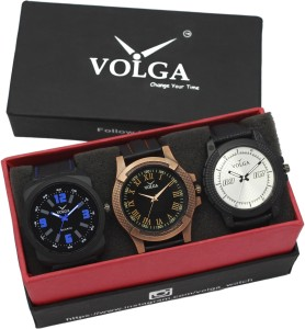 Volga VLW05-23-32-38 Mens Leather Belt Combo Mens Analog Watch Analog Watch  - For Men