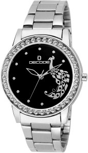 Decode Ladies Crystal LR-2120 Chain Black Analog Watch  - For Girls