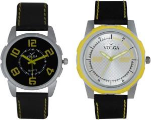 Volga Branded Leather Quality Designer Dial Diwali Special Combo513 Designer Sport Looks WaterProof Mens Watch Analog Watch  - For Men