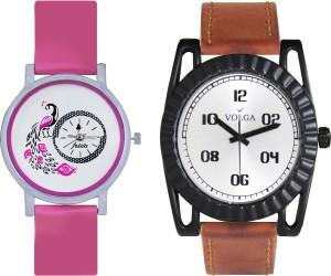 Volga Designer FVOLGA Beautiful New Branded Type Watches Men and Women Combo47 VOLGA Band Analog Watch  - For Couple