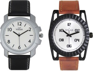 Volga Branded Leather Quality Designer Dial Diwali Special Combo195 Designer Sport Looks WaterProof Mens Watch Analog Watch  - For Men