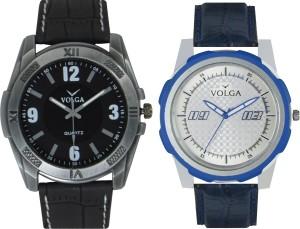 Volga Branded Leather Quality Designer Dial Diwali Special Combo628 Designer Sport Looks WaterProof Mens Watch Analog Watch  - For Men