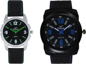 Volga Branded Leather Quality Designer Dial Diwali Special Combo519 Designer Sport Looks WaterProof Mens Watch Analog Watch  - For Men