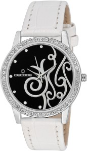 Decode Ladies Crystal Studded ST-501 BLK White Analog Watch  - For Women