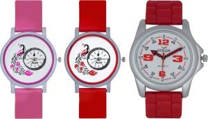 Frida Designer VOLGA Beautiful New Branded Type Watches Men and Women Combo595 VOLGA Band Analog Watch  - For Couple