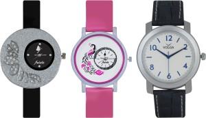Frida Designer VOLGA Beautiful New Branded Type Watches Men and Women Combo264 VOLGA Band Analog Watch  - For Couple