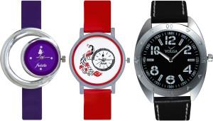 Frida Designer VOLGA Beautiful New Branded Type Watches Men and Women Combo691 VOLGA Band Analog Watch  - For Couple