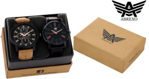 Abrexo Abx 1175BLK-RED-1057BLK-BR Modish Series Analog Watch  - For Men