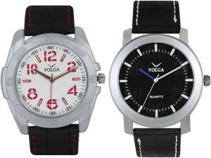 Volga Branded Leather Quality Designer Dial Diwali Special Combo571 Designer Sport Looks WaterProof Mens Watch Analog Watch  - For Men