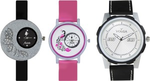 Volga Designer FVOLGA Beautiful New Branded Type Watches Men and Women Combo88 VOLGA Band Analog Watch  - For Couple