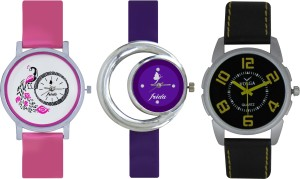 Frida Designer VOLGA Beautiful New Branded Type Watches Men and Women Combo574 VOLGA Band Analog Watch  - For Couple