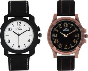 Volga Branded Leather Quality Designer Dial Diwali Special Combo211 Designer Sport Looks WaterProof Mens Watch Analog Watch  - For Men