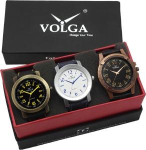 Volga VLW05-11-23-33 Mens Leather Belt Combo With Designer Stylish Branded Fabulous box Analog Watch  - For Men