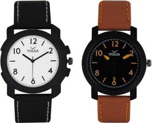 Volga Branded Leather Quality Designer Dial Diwali Special Combo207 Designer Sport Looks WaterProof Mens Watch Analog Watch  - For Men