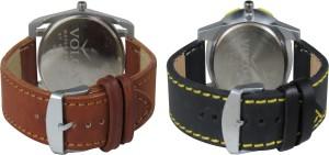 Volga Branded Leather Quality Designer Dial Diwali Special Combo645 Designer Sport Looks WaterProof Mens Watch Analog Watch  - For Men