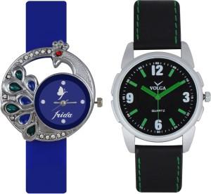 Frida Designer VOLGA Beautiful New Branded Type Watches Men and Women Combo57 VOLGA Band Analog Watch  - For Couple
