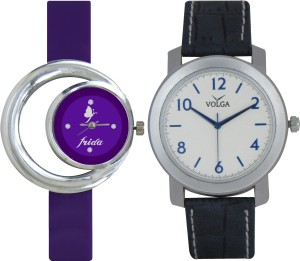 Frida Designer VOLGA Beautiful New Branded Type Watches Men and Women Combo116 VOLGA Band Analog Watch  - For Couple