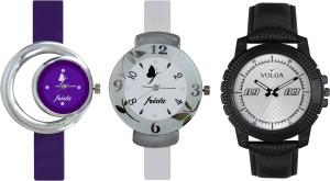 Volga Designer FVOLGA Beautiful New Branded Type Watches Men and Women Combo182 VOLGA Band Analog Watch  - For Couple