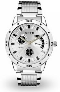Spyn Chronograph Pattern White Analog Watch  - For Boys
