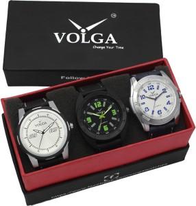 Volga VLW05-18-24-40 Mens Leather Belt Combo With Designer Stylish Branded Trendy box Analog Watch  - For Men