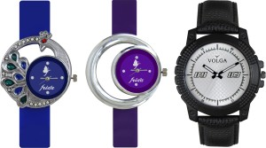 Volga Designer FVOLGA Beautiful New Branded Type Watches Men and Women Combo126 VOLGA Band Analog Watch  - For Couple