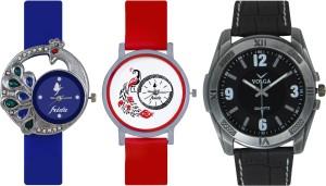 Frida Designer VOLGA Beautiful New Branded Type Watches Men and Women Combo509 VOLGA Band Analog Watch  - For Couple