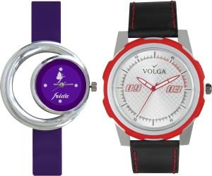 Volga Designer FVOLGA Beautiful New Branded Type Watches Men and Women Combo58 VOLGA Band Analog Watch  - For Couple