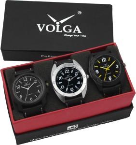 Volga VLW05-14-17-31 Mens Leather Belt Combo With Designer Stylish Branded Trendy box Analog Watch  - For Men