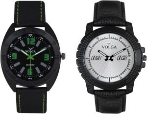 Volga Branded Leather Quality Designer Dial Diwali Special Combo361 Designer Sport Looks WaterProof Mens Watch Analog Watch  - For Men