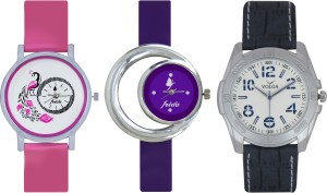 Frida Designer VOLGA Beautiful New Branded Type Watches Men and Women Combo573 VOLGA Band Analog Watch  - For Couple
