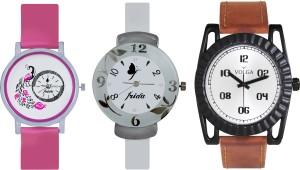 Volga Designer FVOLGA Beautiful New Branded Type Watches Men and Women Combo165 VOLGA Band Analog Watch  - For Couple