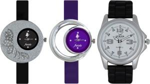 Frida Designer VOLGA Beautiful New Branded Type Watches Men and Women Combo297 VOLGA Band Analog Watch  - For Couple