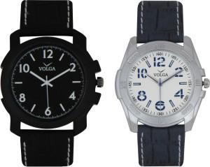 Volga Branded Leather Quality Designer Dial Diwali Special Combo241 Designer Sport Looks WaterProof Mens Watch Analog Watch  - For Men