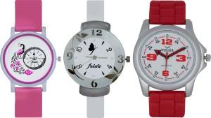 Frida Designer VOLGA Beautiful New Branded Type Watches Men and Women Combo632 VOLGA Band Analog Watch  - For Couple
