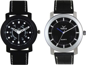 Volga Branded Leather Quality Designer Dial Diwali Special Combo284 Designer Sport Looks WaterProof Mens Watch Analog Watch  - For Men