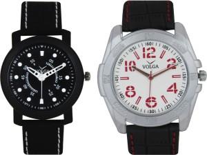 Volga Branded Leather Quality Designer Dial Diwali Special Combo274 Designer Sport Looks WaterProof Mens Watch Analog Watch  - For Men