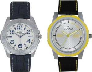 Volga Branded Leather Quality Designer Dial Diwali Special Combo495 Designer Sport Looks WaterProof Mens Watch Analog Watch  - For Men