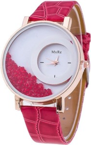 Style Feathers HalfMoon-Red Analog Watch  - For Girls